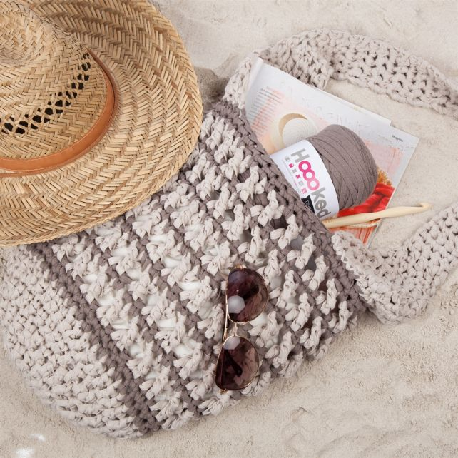 DIY Crochet Pattern Mesh Bag RibbonXL