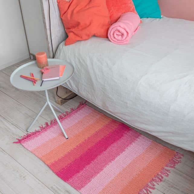 DIY Knitting Pattern Rug Lastavo