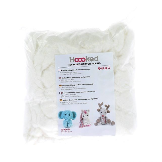 100% Recycled Fluffy Cotton Filling Pearl
