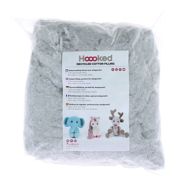 100% Recycled Fluffy Cotton Filling 250gram - Cloud