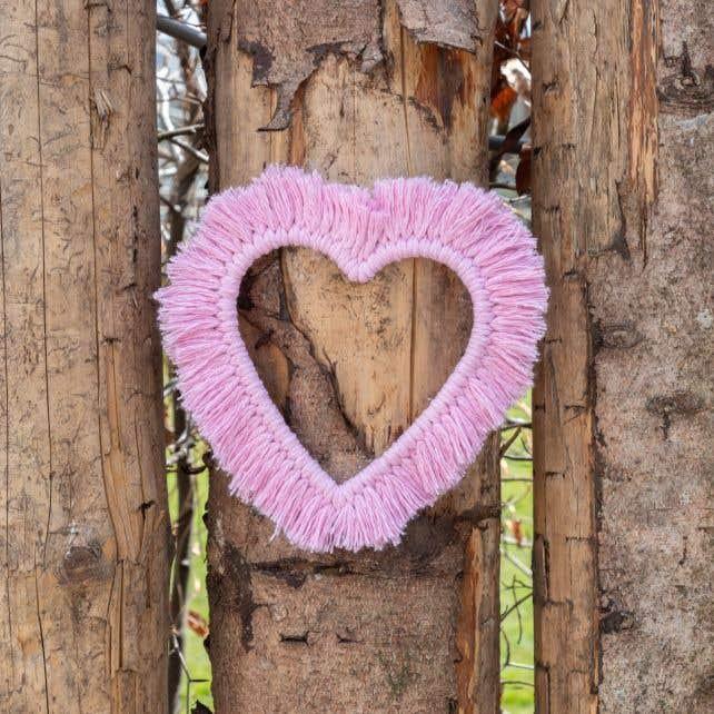 DIY Macramé Patroon Wandhanger Heart & Love