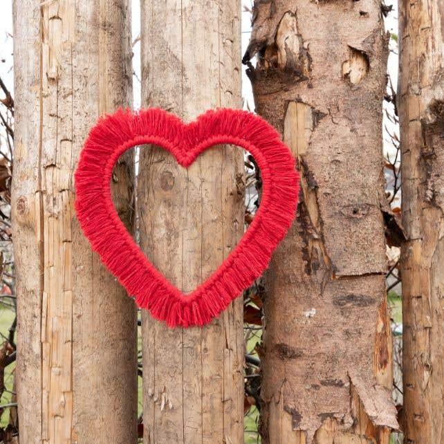 DIY Macramé Pakket Wandhanger Heart & Love