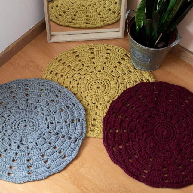 DIY Haakpatroon RibbonXL Mandala Vloerkleed
