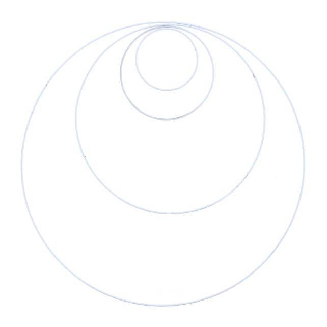 Set 4 Macramé Rings