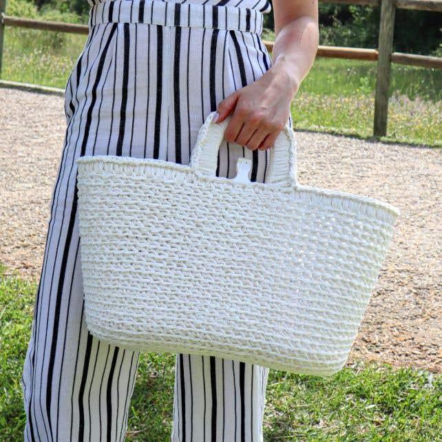 DIY Haakpakket Shopper Pearl White