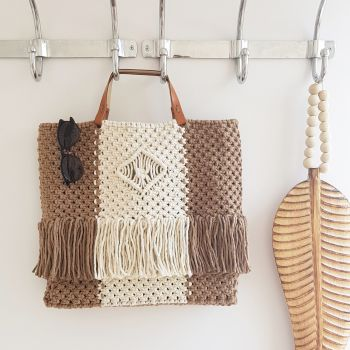 DIY Macramé Kit Isola Boho Bag