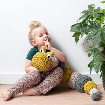 DIY Crochet Kit RibbonXL Caterpillar Lola