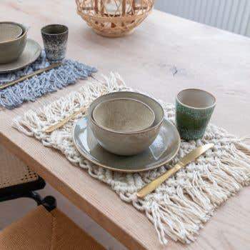 DIY Macramé Kit Table Mat Ponza Vanilla Cream