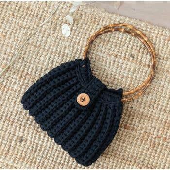 DIY Crochet Kit Zpagetti Bag Firenze Black