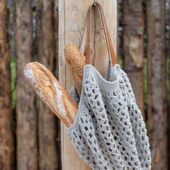 DIY Crochet Kit Eco Barb Bologna Bag Biscuit