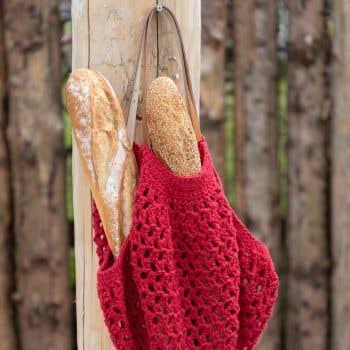 DIY Crochet Kit Eco Barb Bologna Bag Ruby