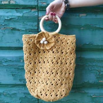 DIY Crochet Pattern Saharun Summer Bag