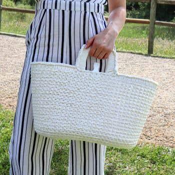DIY Crochet Kit Shopper Pearl White
