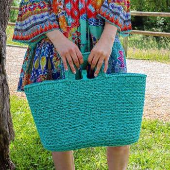 DIY Crochet Kit Shopper Ribbonxl Happy Mint