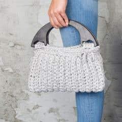 DIY Crochet Kit Zpagetti bag Milano Grey