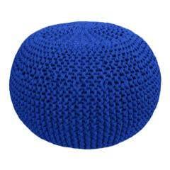 DIY Crochet & Knit Kit Zpagetti Pouf Electric Blue