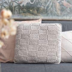 DIY Knitting Kit Cushion Bulky Textures Sandy Ecru