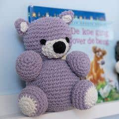 DIY Crochet Kit Eco Barbante Billie Bear Orchid