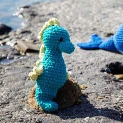 DIY Crochet Pattern Seahorse Bubbles Eco Barbante