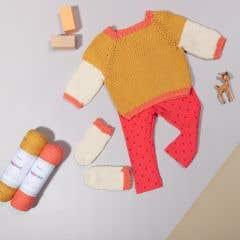 DIY kit de tejer baby suéter somen oro