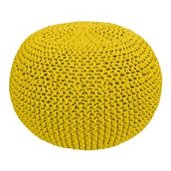 DIY Knitting Kit RibbonXL Pouf Spicy Ocre