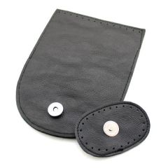 Leather Look Flap with Magnetic button