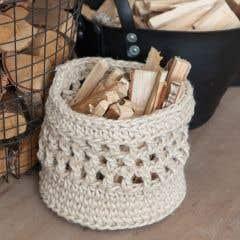 DIY Crochet Kit Jute Basket Melilla