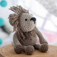 DIY Crochet Kit Lion Leroy Eco Barbante