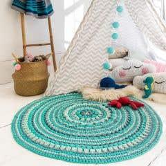 DIY Crochet Pattern RibbonXL Rug Love MaritParit