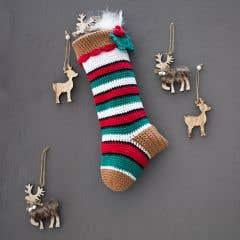 DIY Crochet Kit Christmas Stocking