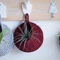 DIY Crochet Kit Storage Bag Marsala Bordeaux