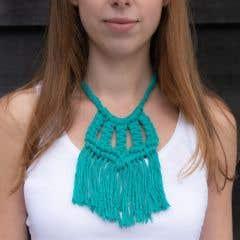 DIY Makramee Muster Halskette Siena