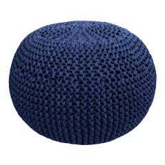DIY Knitting Kit RibbonXL Pouf Riverside Jeans