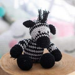 DIY Crochet Kit Zebra Zizi Eco Barbante