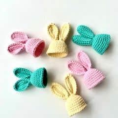 DIY Crochet Pattern Easter Bunny Egg Warmers
