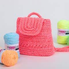 DIY Crochet Kit California Backpack Radical Rose