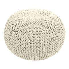 DIY Crochet & Knit Kit Zpagetti Pouf Vanilla Cream White