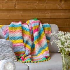 DIY Crochet Kit Blanket La Boca