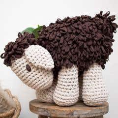 DIY Crochet Kit Sheep Robby Tabaco Brown