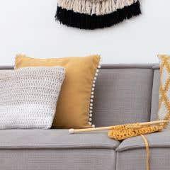 DIY Crochet kit cushion cover Java Sandy Grey