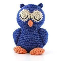 DIY Crochet Pattern Sleepy Owl Eco Barbante