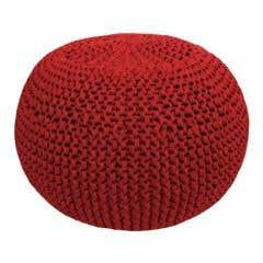 DIY Crochet & Knit Kit Zpagetti Pouf Marsala Bordeaux