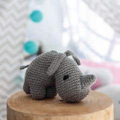 DIY Haakpakket Rhino Dex Eco Barbante Gris