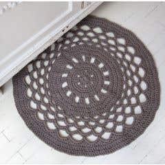 DIY Pattern Crochet Round Rug RibbonXL