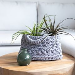 DIY Crochet Kit Zpagetti Basket Revisto Grey