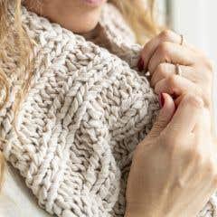 DIY Free Knitting Pattern Cowl Scarf Barolo