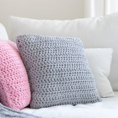 DIY Crochet Kit RibbonXL Cushion Silver Grey