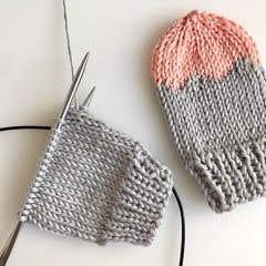DIY Patrón de tejer mitones de bebé Acri