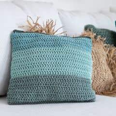 DIY Crochet Kit cushion cover Java Emerald Herb