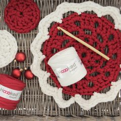 DIY Crochetpattern X-mas Doily and Coasters